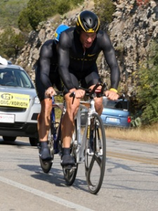 Lance Armstrong & John Korioth in the 2008 Tour De Gruene Team T