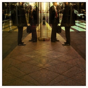 businessmen reflection